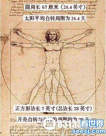 """揭秘: 达芬奇""""维特鲁威人""""的人体密码"""