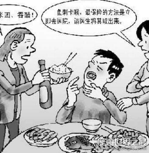 鱼刺卡在喉咙怎么办最有效的办法,咽饭/喝醋都是错误行为