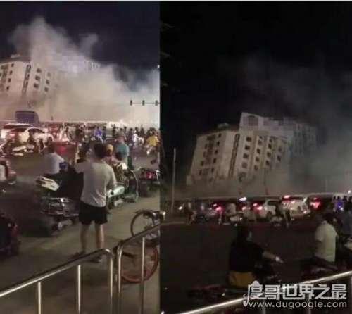 """广西南宁大楼突然倒塌视频遭疯传,官方回应""""乃正常施工"""""""