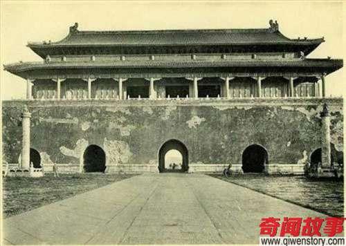 老照片:北京天安门广场改造前的旧时风貌