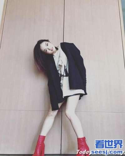 徐佳莹晒骚包照狂减13公斤变长腿辣妹