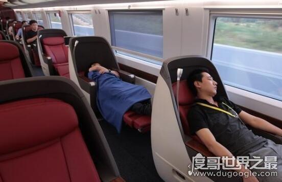 高铁一等座和二等座的区别,一等座价格更贵也更舒适