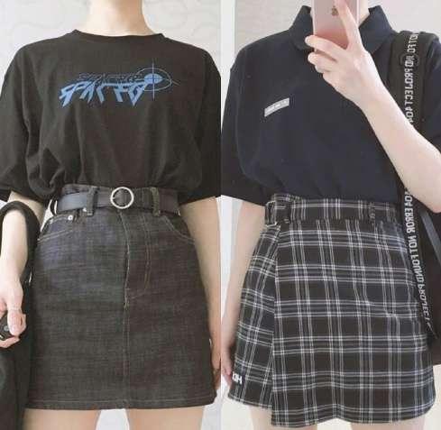 学生党夏季如何穿衣搭配T恤和半身短裙完全就是学生装的标配