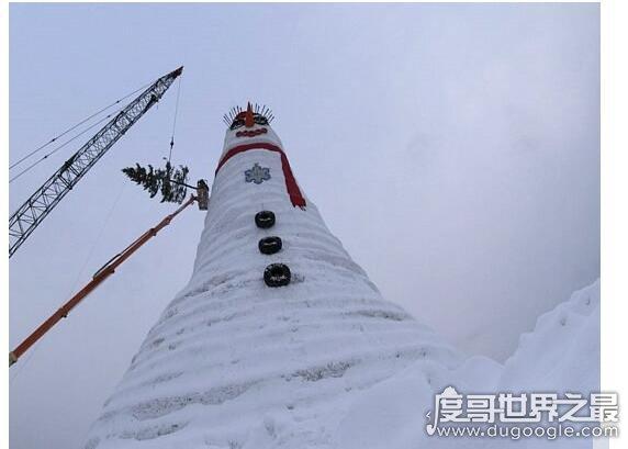 世界上最高的雪人,身高有37.21米(建造耗时一个月)