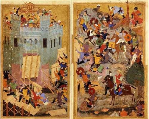 艺术品里的历史波斯细密画上的士麦那之战
