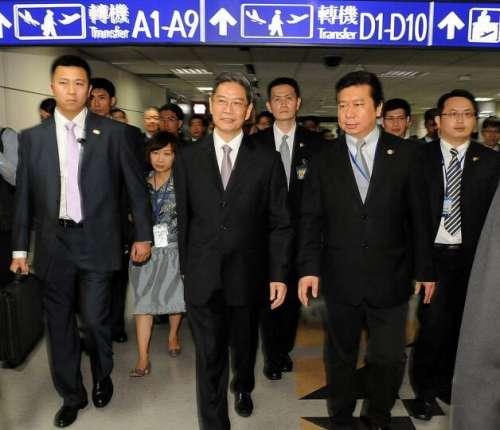 张志军访问台湾与王郁琦在台北正式会面