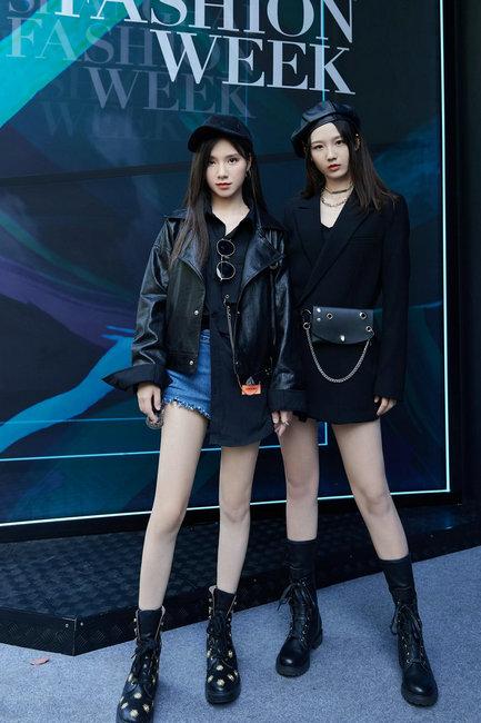 """""""腿精""""少女唐莉佳、刘力菲 上海时装周展露锋芒"""