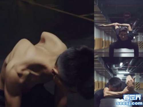 男子秀特技喷出肩胛骨上演人体变形金刚