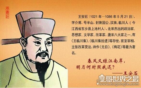 王安石是哪个朝代的,它是北宋时期著名的政治改革家(官至宰相)