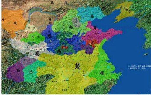 春秋战国时期秦国和楚国地图是怎样的楚国是怎么被秦国灭掉的