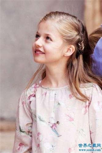 莱昂诺尔公主颜值超高基因强大 妈妈曾是西班牙美女主播