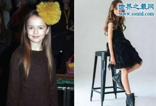 """世界上最美的女孩,10岁克莉丝汀娜(模特界的""""萝莉杀手"""")"""