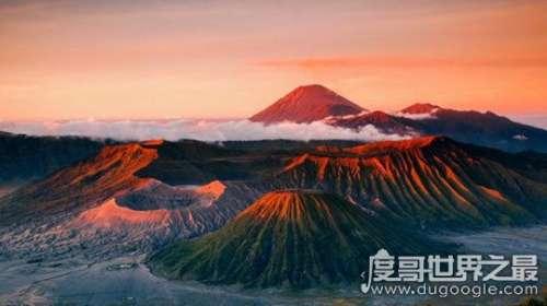 世界上火山最多的国家是哪个,印度尼西亚(有500多座火山)