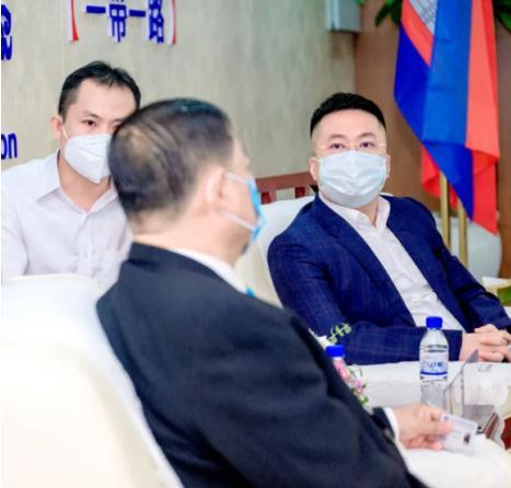 中小企业发展主席莅临指导中柬商会刘阳的企业
