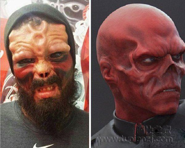 委内瑞拉男子割鼻整容漫画英雄 完美变身红骷髅